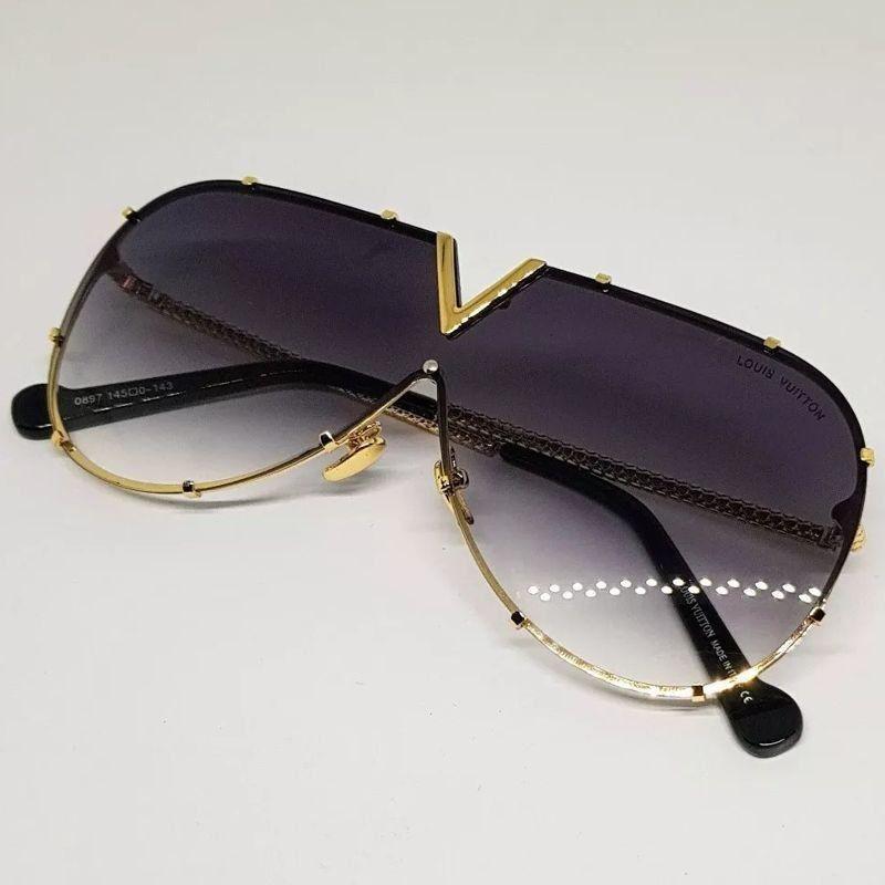 ce968330c Óculos de Sol Louis Vuitton™ – Drive – Preto | Óculos de Luxo ...