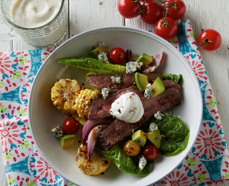 Grilled Summer Steak Salad Recipe With Images Steak Salad Stuffed Peppers Grilling