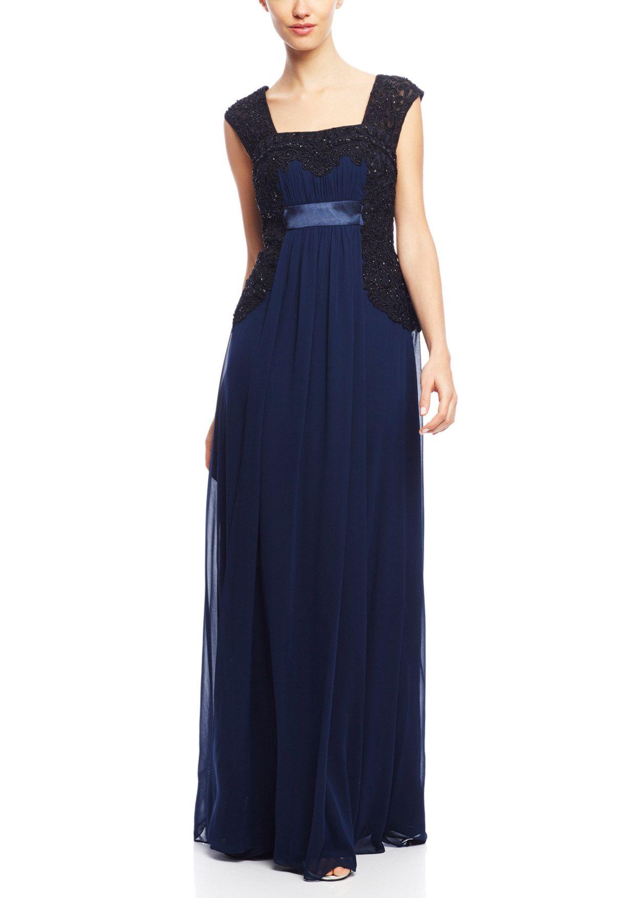c1378373eae85 SUE WONG Sleeveless Border Lace Gown
