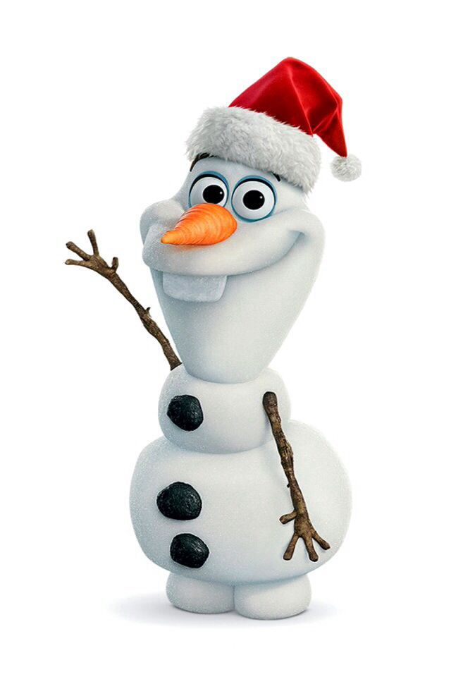 c5cdc59cc19b5 Olaf from frozen wearing a Christmas hat getting ready for the holiday