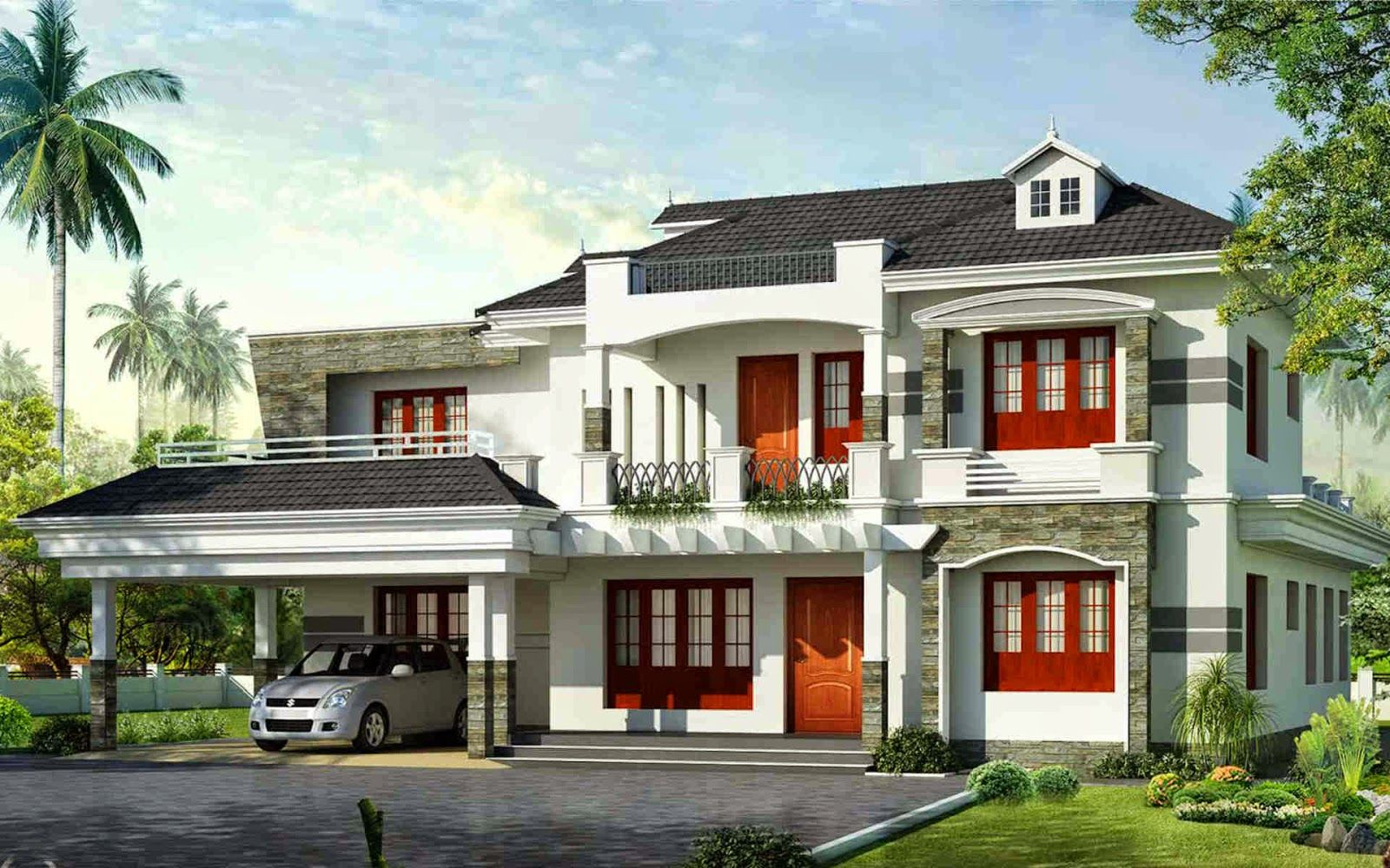 Exterior Design Kerala Home Design Wallpaper Pictures Hd