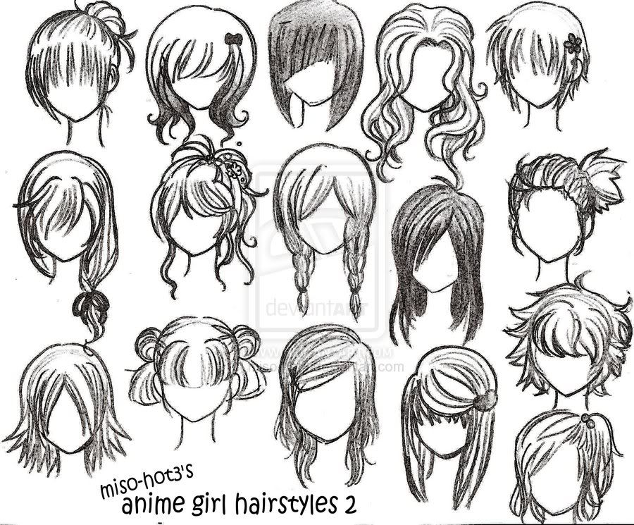 Cute Short Anime Hairstyles Google Paieka Drawing Anime In