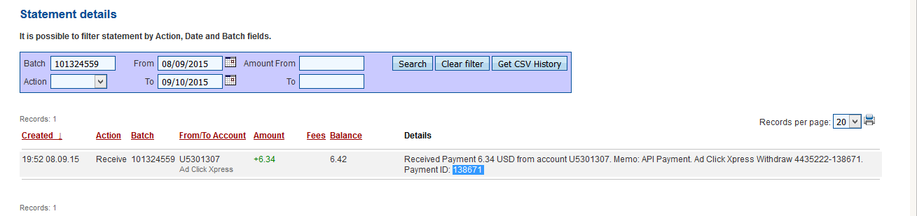 Here is my Withdrawal Proof from AdClickXpress. I get paid daily and I can withdraw daily. Online income is possible with ACX, who is definitely paying - no scam here. I WORK FROM HOME less than 10 minutes and I manage to cover my LOW SALARY INCOME. If you are a PASSIVE INCOME SEEKER, then AdClickXpress (Ad Click Xpress) is the best ONLINE OPPORTUNITY for you!!  http://www.adclickxpress.com/?r=534nvqgncj&p=mx