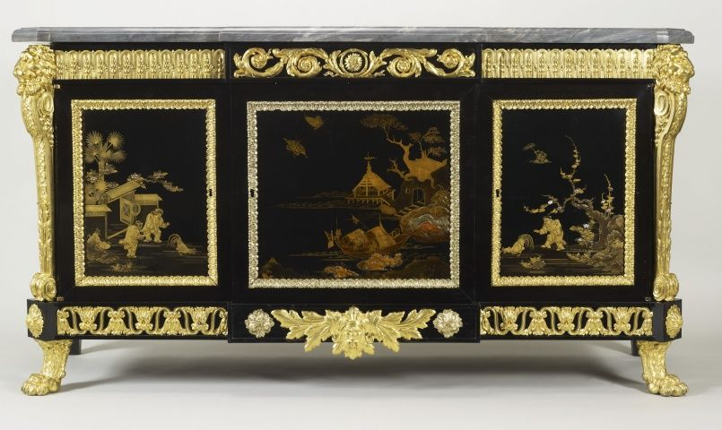 Joseph Baumhauer (d 1772) Cabinet c1770 Oak, ebony, gilt bronze