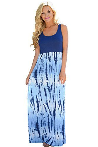 Navy blue color extra large casual maxi dress