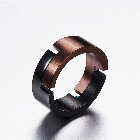 The Man Ring Gift For Boyfriend Anniversary Unique Mens Ring Cool