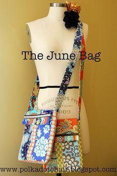 The June Bag, a Cross Body Bag Sewing Pattern   Purse patterns ... : quilted crossbody bag pattern - Adamdwight.com