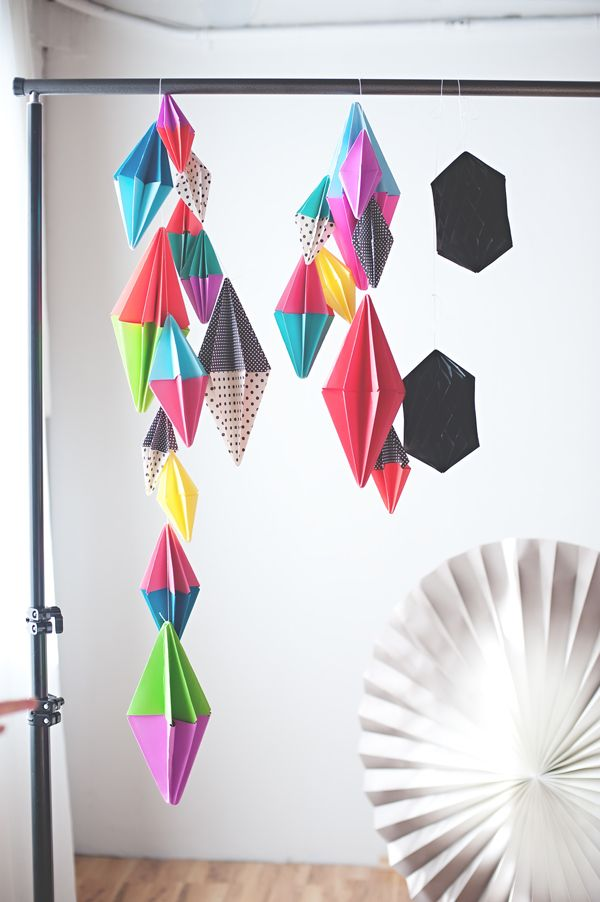 Diamond Paper Party Garland Parties Pinterest Garlands Crafts