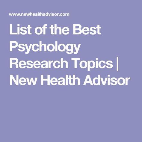 psychology research paper topics list