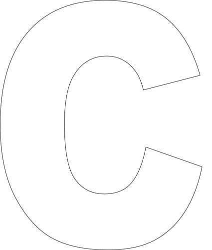 Free Printable Upper Case Alphabet Template Alphabet Alphabet