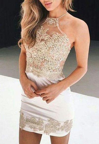 5ebba9e7277 Short Sheath Prom Homecoming Dress - Jewel Sleeveless with Beading  Appliques