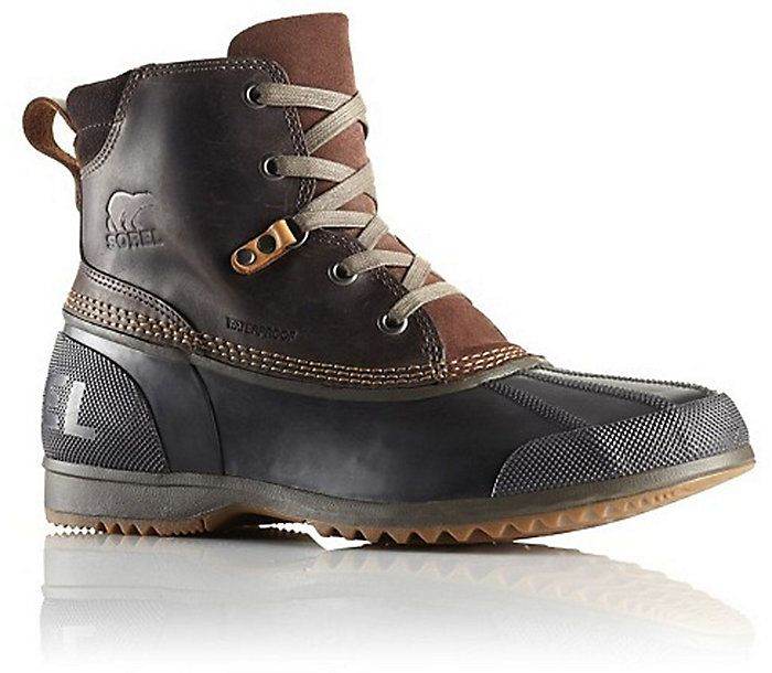 f8e02dd8e5dd57 Sorel Ankeny Boot - Men s  Full-grain waterproof leather and vulcanized  rubber shell combine to promise comfort and protection