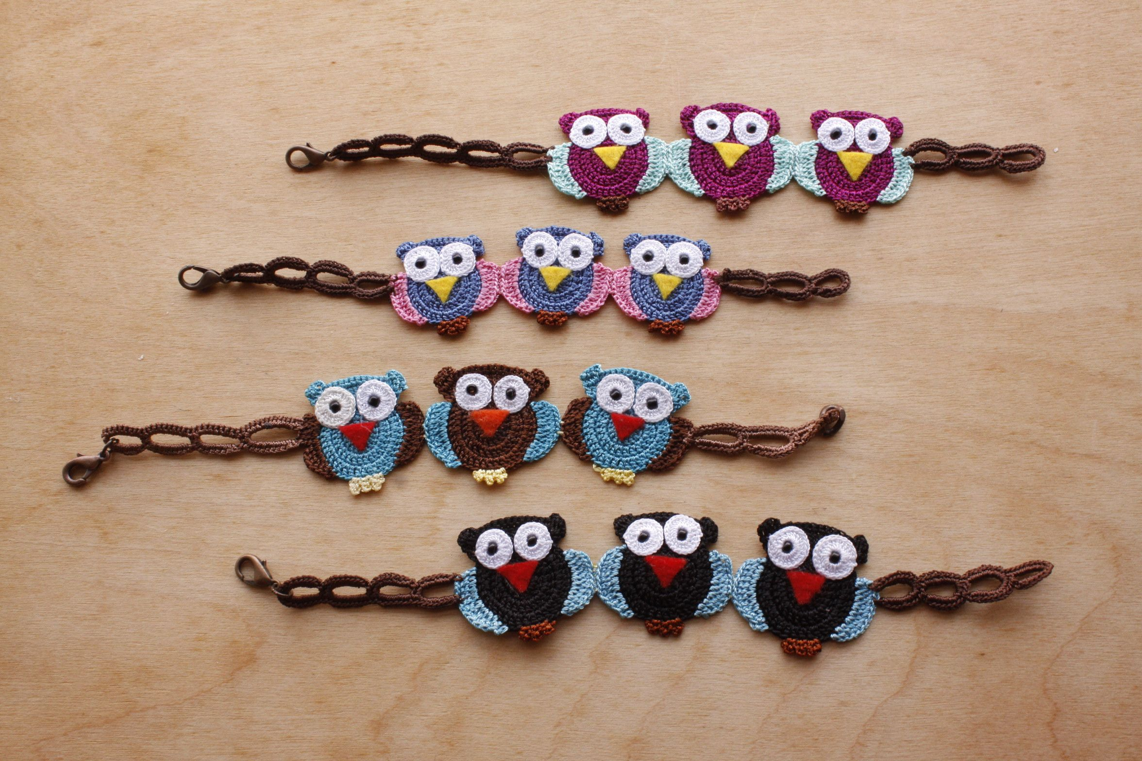 Owl Bracelet (Available in different colors and sizes)