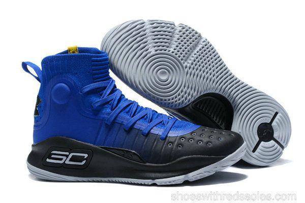 Mens Under Armour Curry 4 Mid Basketball Shoes Away Team Royal Black  Academy Team Royal 93a585f7a