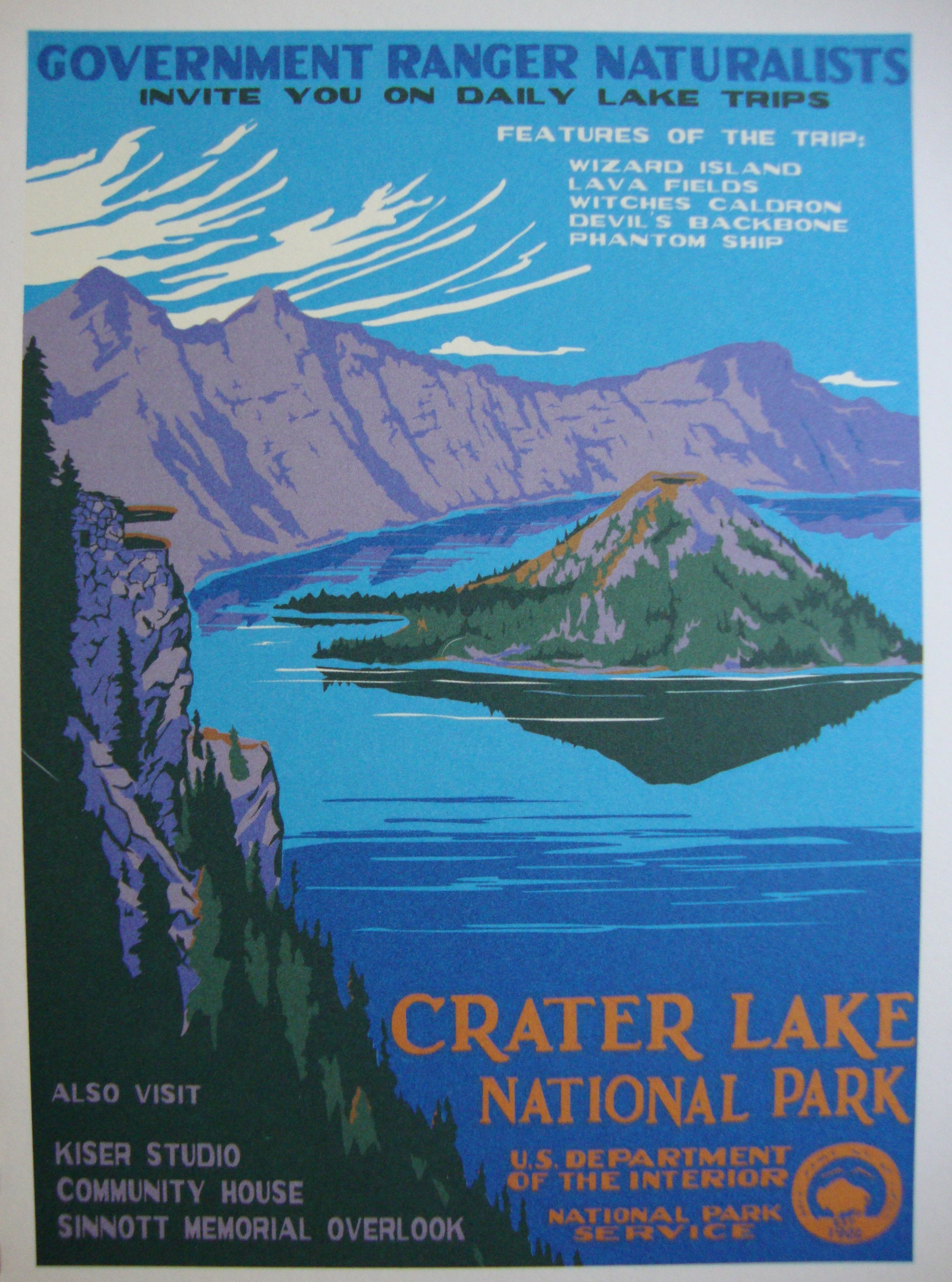 Ordinary Vintage National Park Posters Part - 12: Fine Print. Wpa PostersRetro PostersTravel PostersPoster VintageCrater Lake National  ParkNational ...