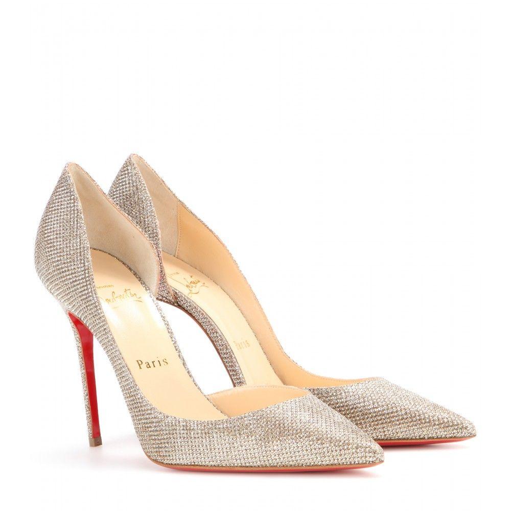 online retailer 88387 dcf0e Christian Louboutin - Glitter-Pumps Iriza 100 - Christian ...
