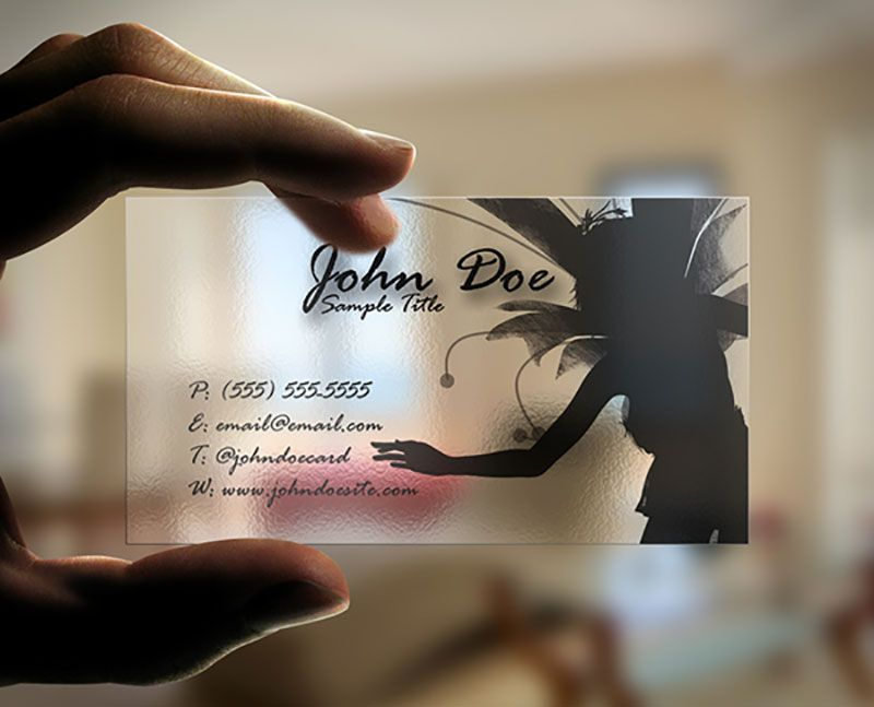Fairy Transparent Business Card | Business Card Mockup PSD ...