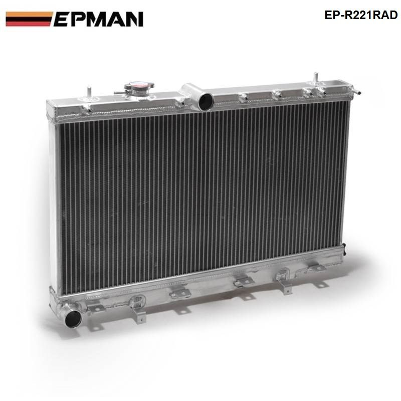Epman 50mm 2 Row Aluminum Radiator For Subaru Impreza Wrx Sti Gdb