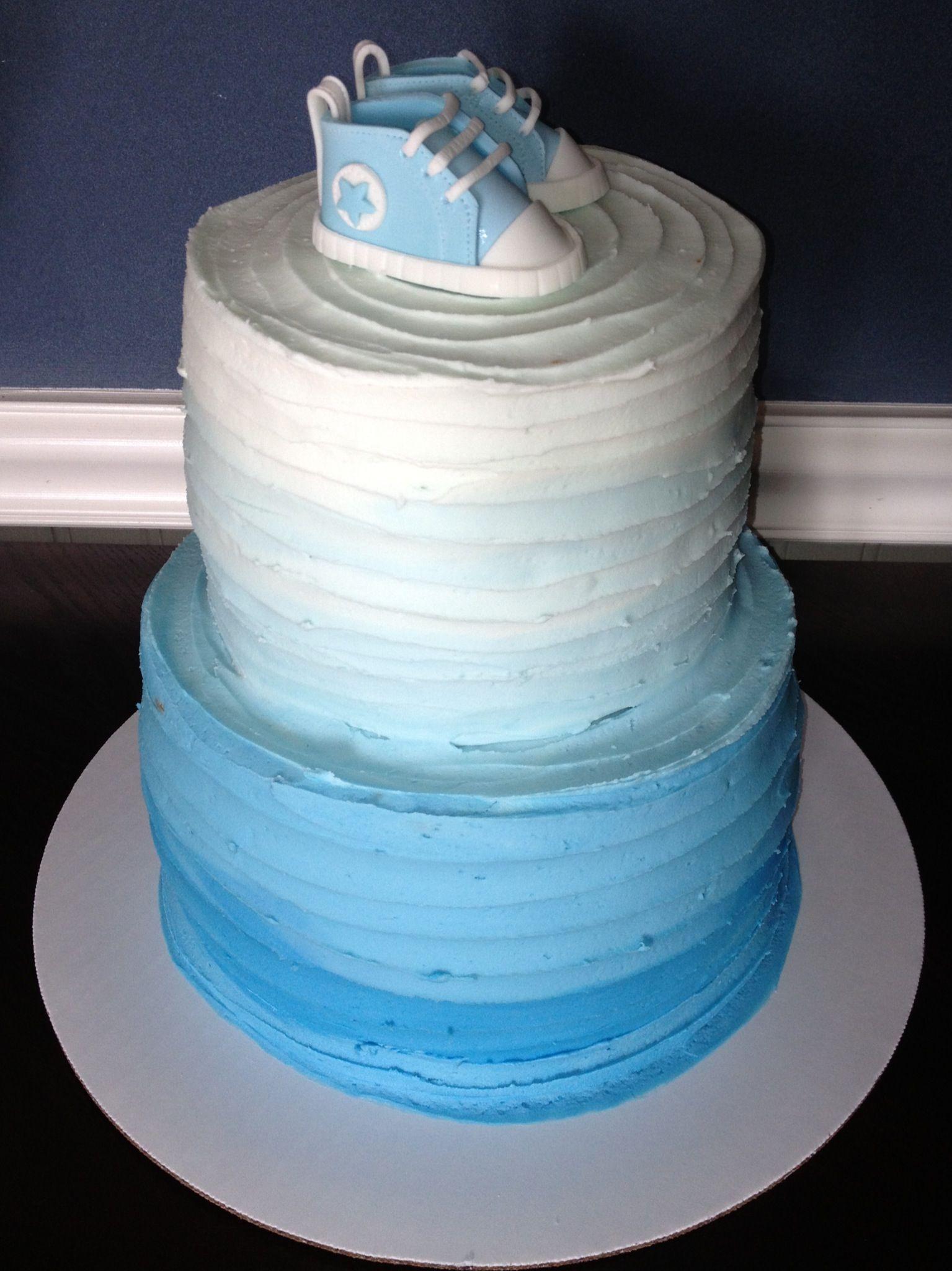 7490be4cf584 Baby converse ombré cake