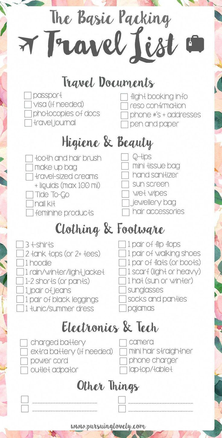 Beach vacation packing list family. Pack travel-size toiletries or in case you h…