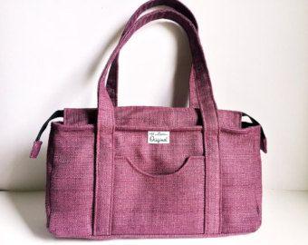 Rose Ali Shoulder Bag, Purple Rose Handbag, Handmade Shoulder Handbag, Tote Bag, Women's Bag, Medium Fabric Shoulder Bag, 144 Collection