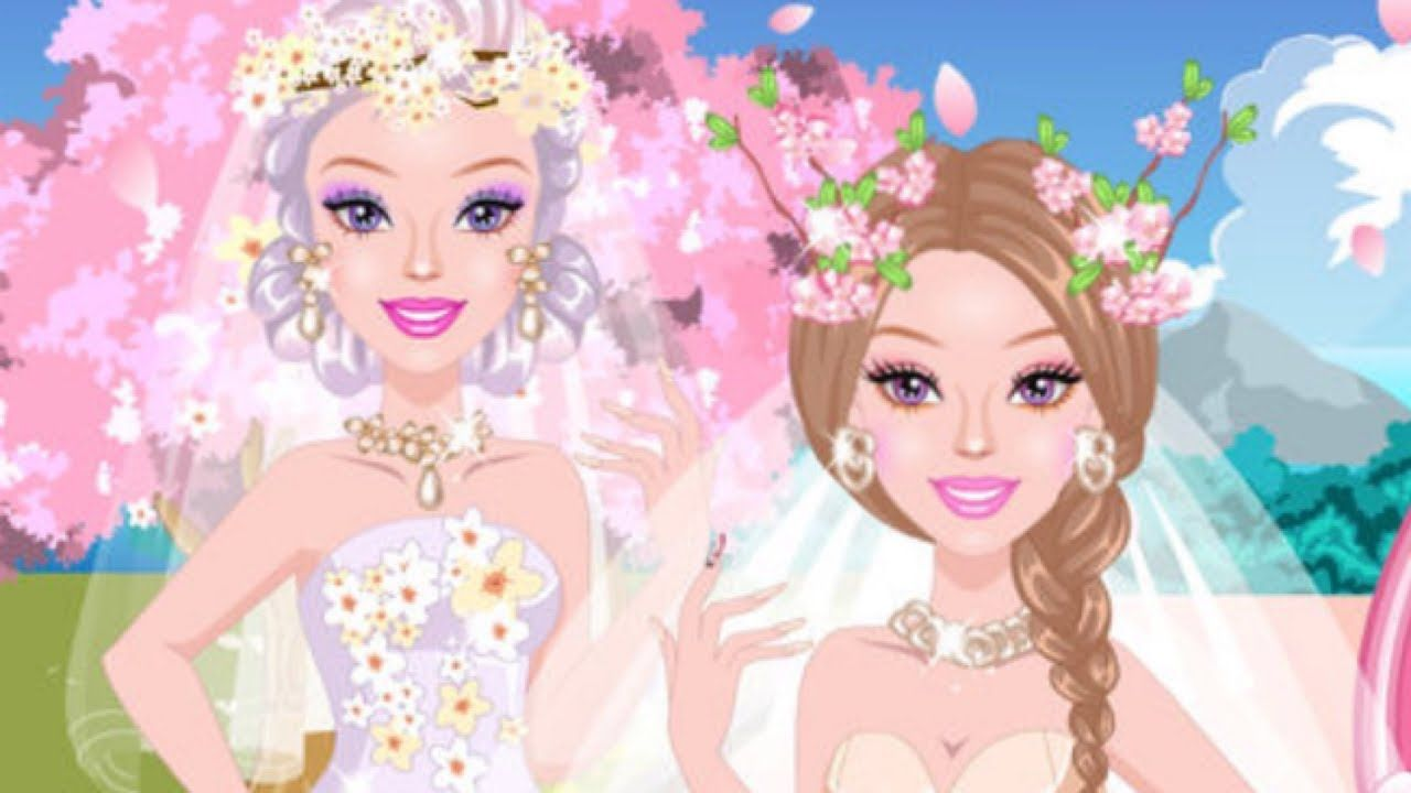 Cherry Blossom Wedding Girls Makeup Dress Up Games For Kids In 2020 Wedding Girl Cherry Blossom Wedding Girls Makeup