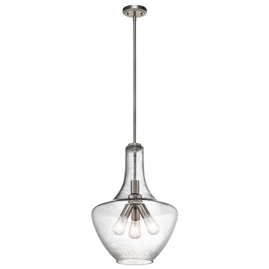 Kichler Lighting Everly Collection 3 Light Brushed Nickel