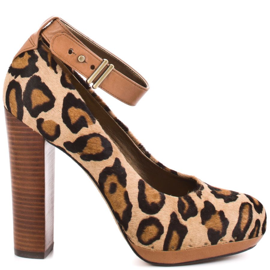 f4d56fba67d86d Treat your wild side to sleek fashion with this on trend Sam Edelman pump.  Lyla showcases a leopard print upper with a tan adjusting ankle strap.