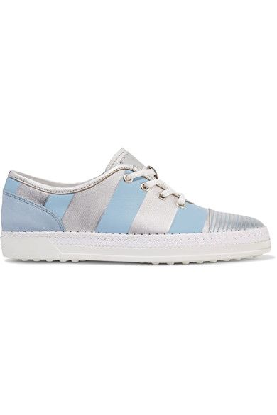 Leather-trimmed Nubuck And Neoprene Sneakers Tod's Sale Online Store Cheap Fg6nva