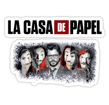 La Casa De Papel Stickers By Alecre Redbubble Cute Stickers Girl Stickers Bubble Stickers