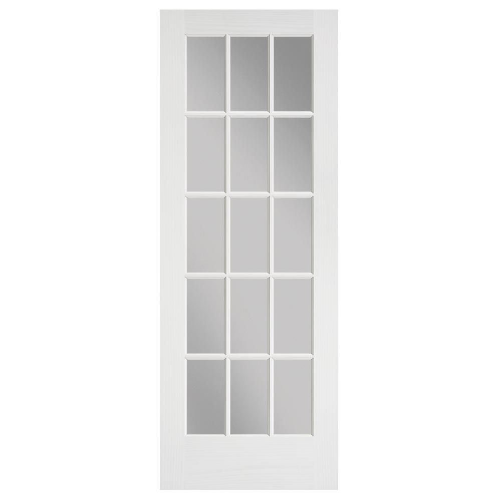 Masonite 24 In X 80 In Primed 15 Lite Solid Core Pine Interior Door Slab Doors Interior Pine Interior Doors French Doors Interior