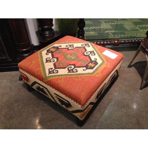 Tremendous Kilim Southwestern Look Coffee Table Ottoman Southwestern Bralicious Painted Fabric Chair Ideas Braliciousco