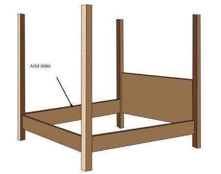 Instructions 4 Poster Bed 4 Poster Beds Diy Bed Frame King