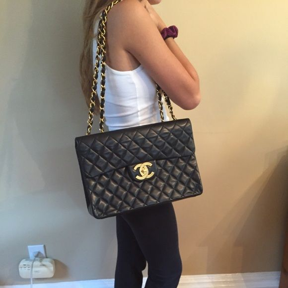 fb80d4f81379 Chanel Maxi Classic Flap Bag Style code: A47600, size 13