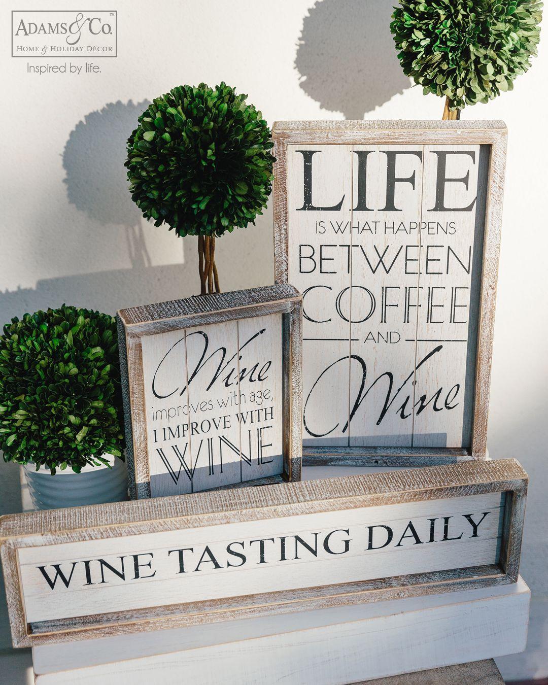 Wine Collection Adams Co Adamsandco Inspiredbylife Wholesale Decor Home Decor Wine Collection