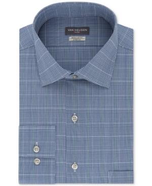 4c68d2085d4 Van Heusen Men s Classic Regular Fit Wrinkle Free Flex Collar Stretch Blue  Check Dress Shirt - Blue 18 36 37