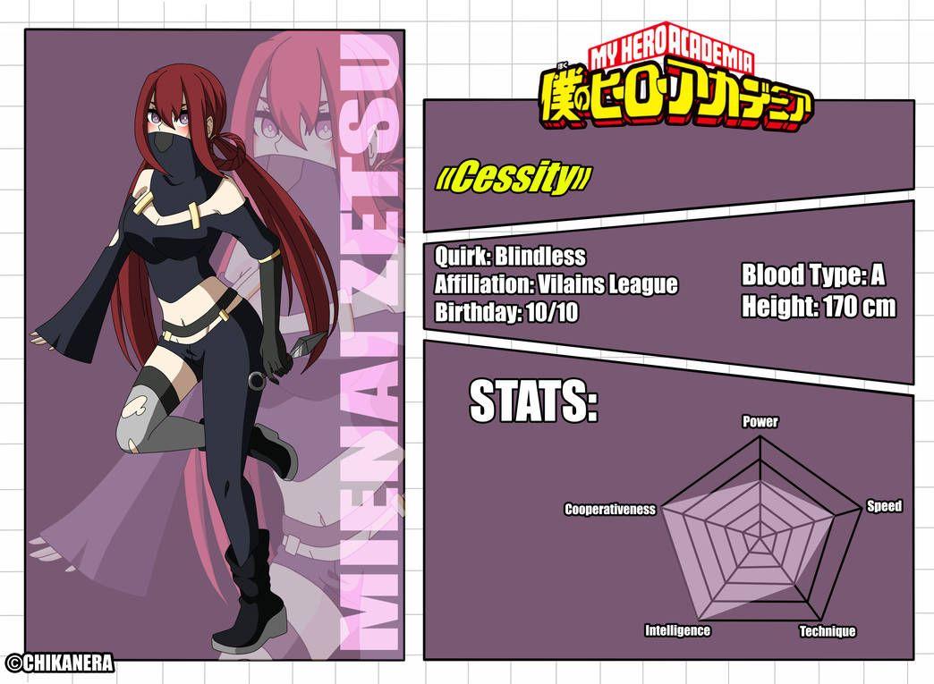 Bnha Oc Mienai Zetsu Id Card By Charliia My Hero Hero Academia Characters Hero
