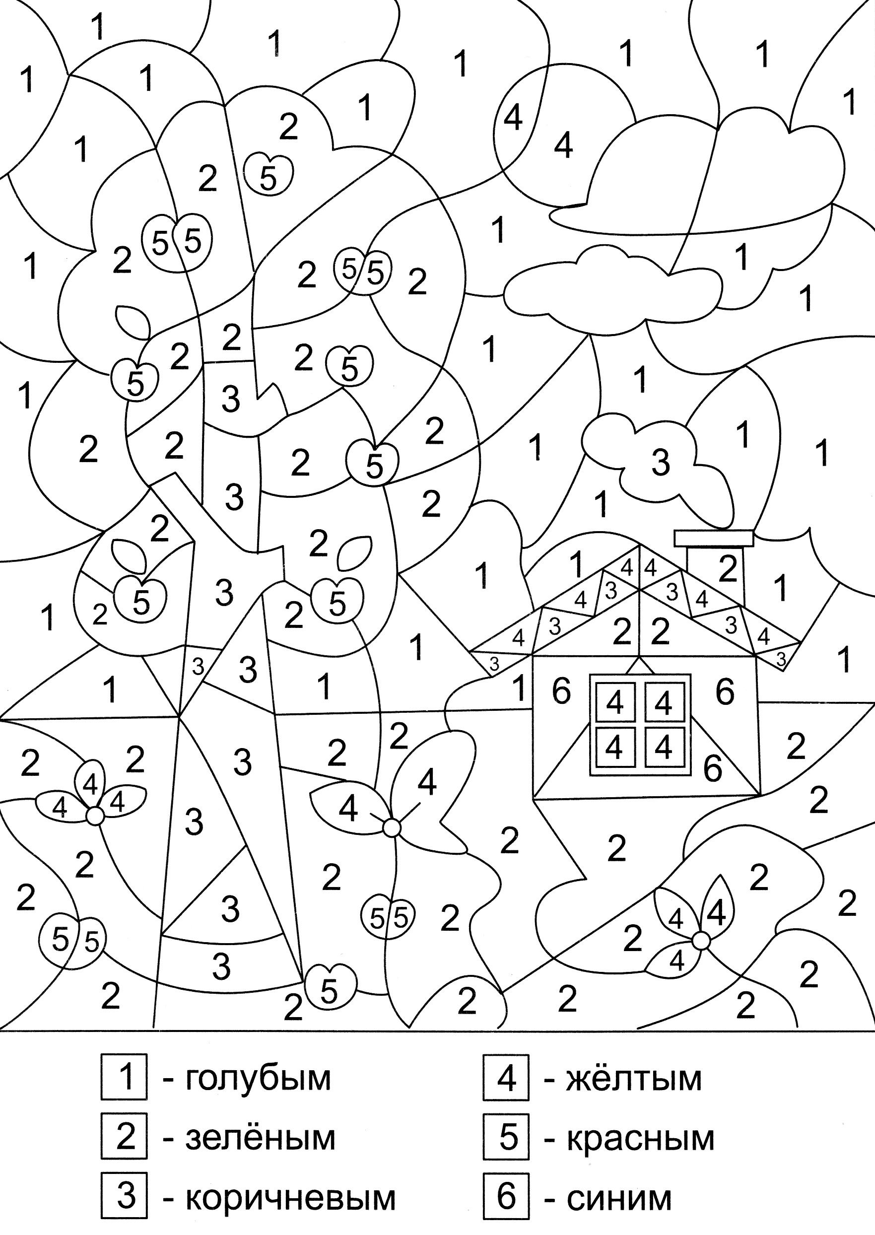 Matematicheskie Raskraski Dlya Doshkolnikov Raskraski Raskraska Po Cifram Matematicheskie Proekty