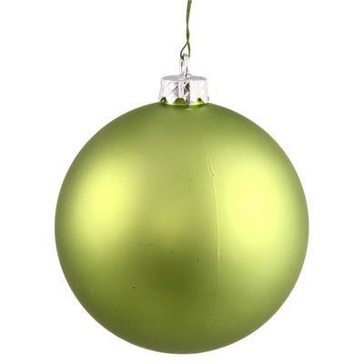 Ball Balls Decorations The Holiday Aisle Uv Ball Shatterproof Ornament Color Lime