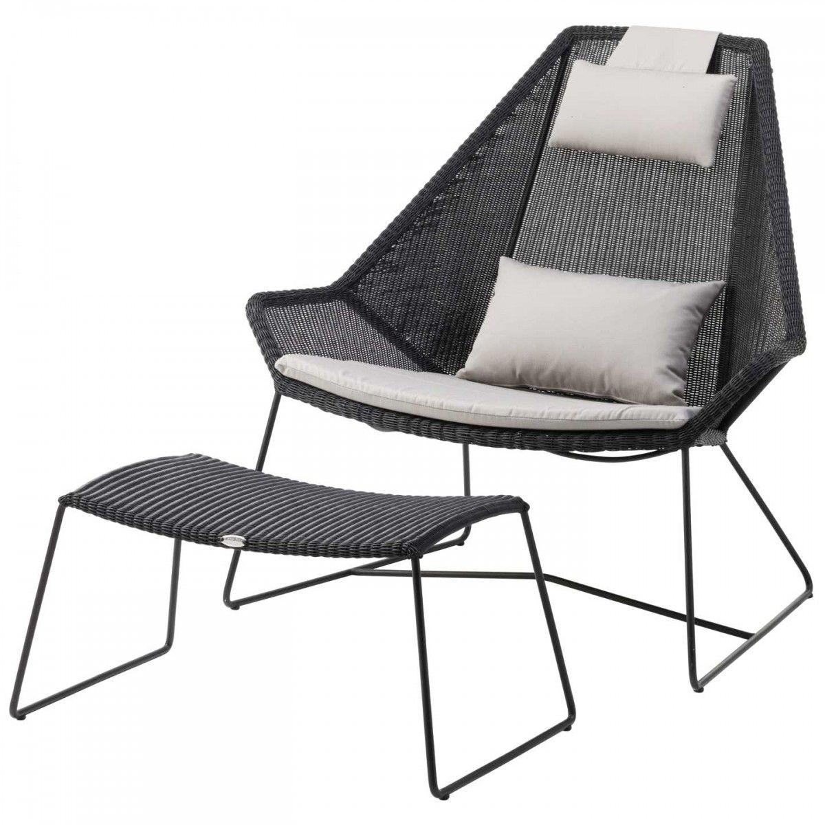Breeze High Back Lounge Chair Cane Line Outdoor Furniture Aram Store Lounge Chair Outdoor Contemporary Outdoor Furniture Modern Outdoor Dining Chairs