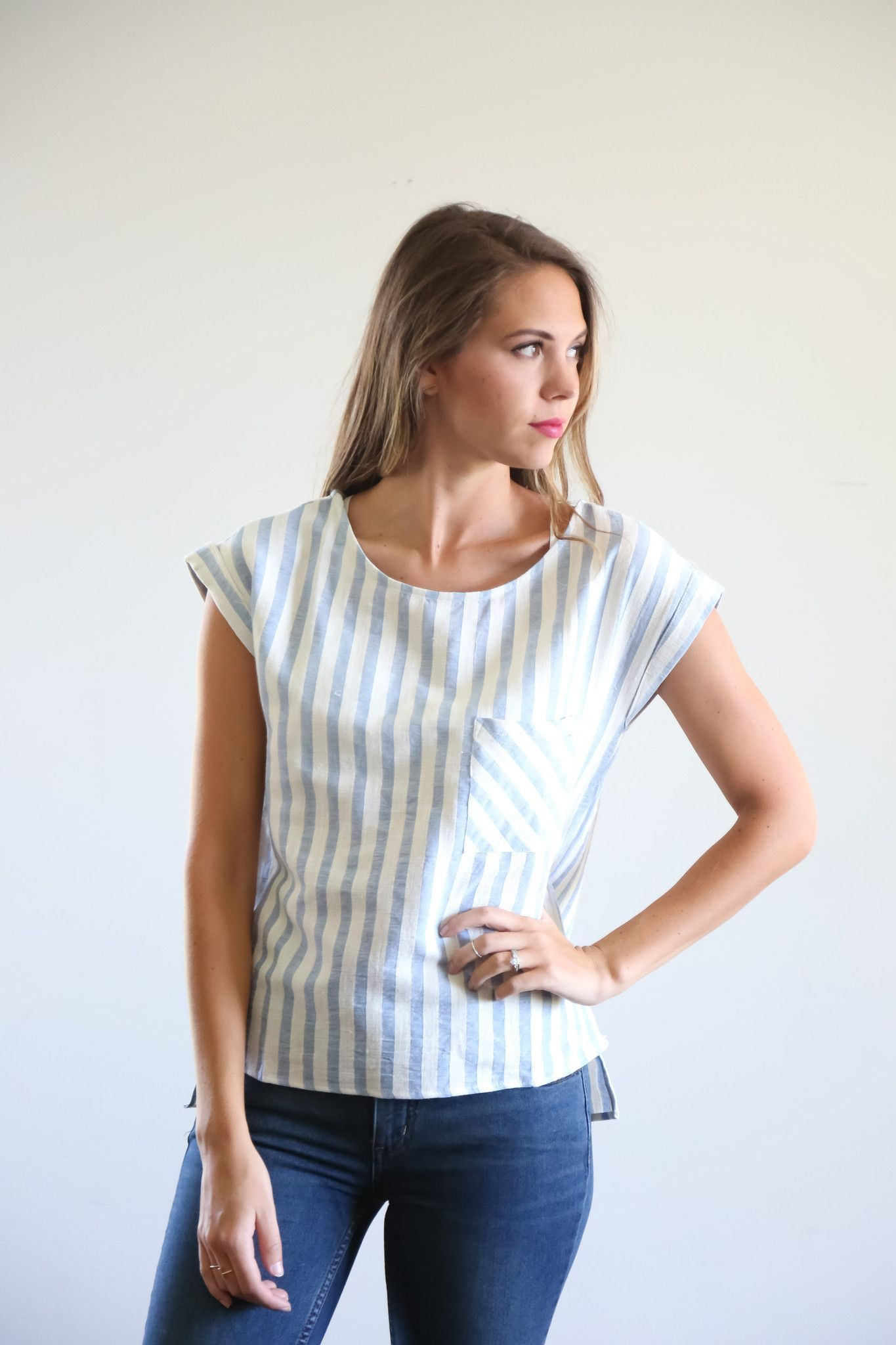 The Harbor Striped Blouse