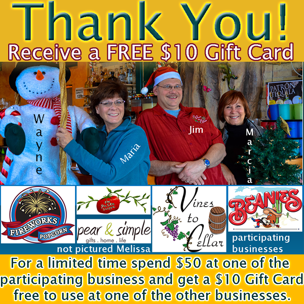 Thank You for your business. Get a 10 Gift Card to spend