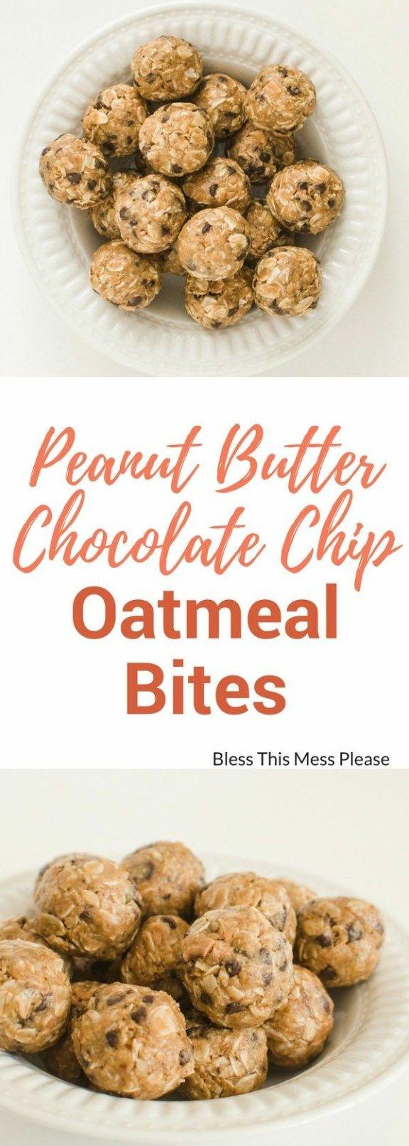 Peanut Butter Chocolate Chip Oatmeal Energy Balls
