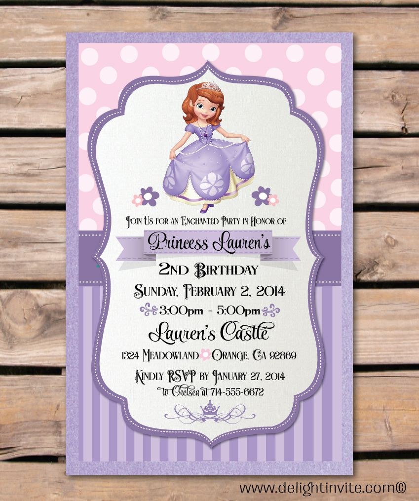 Sofia The First Logo Template Invitation Templates Designsearch