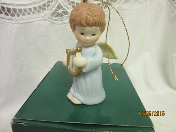 Angel Ornament Blue Heirloom Collection by PorcelainChinaArt