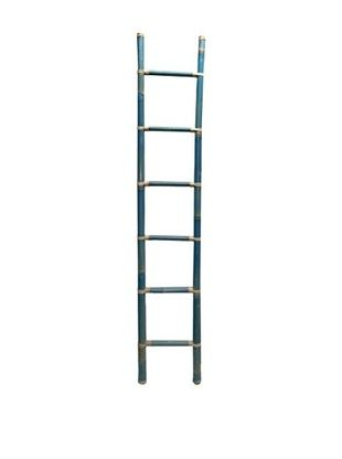Blue Bamboo Ladder, Turquoise