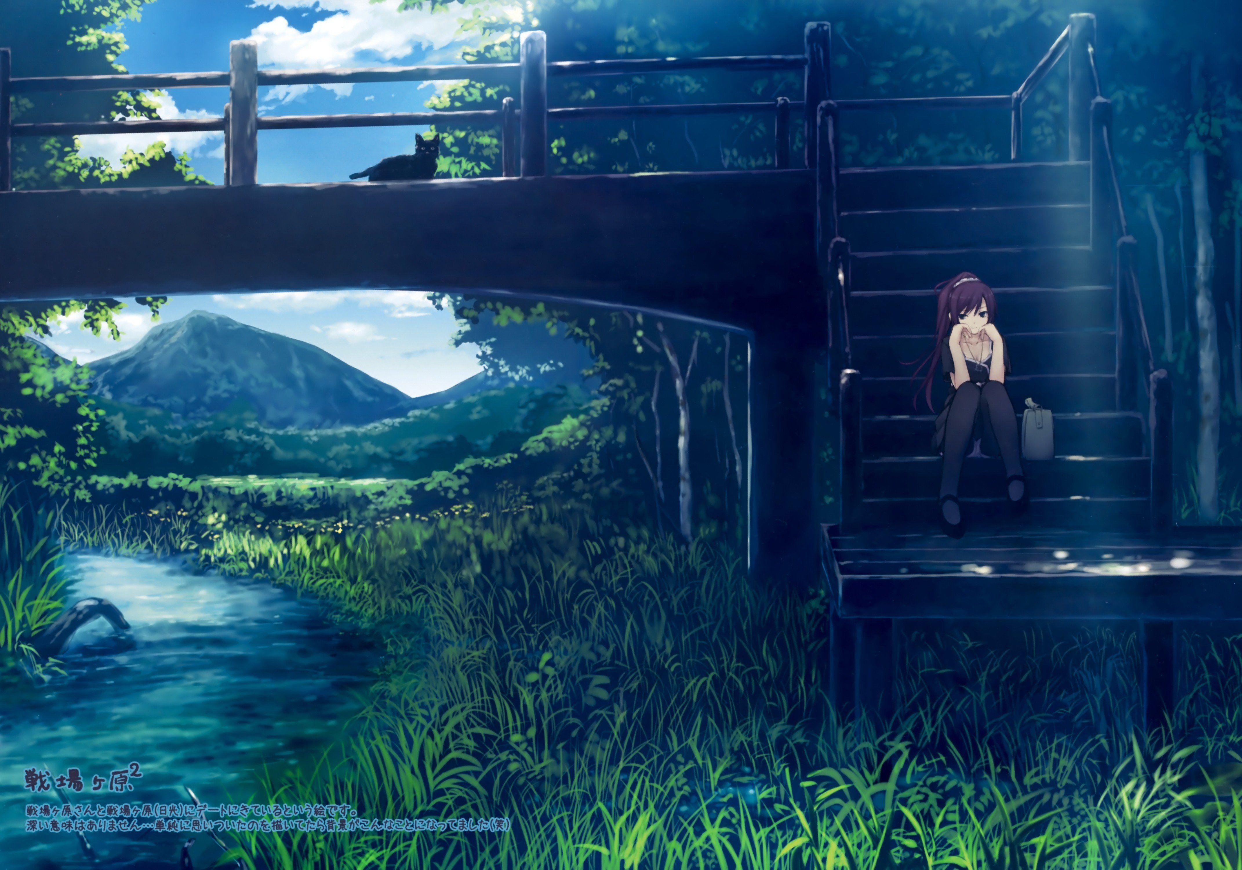 Resultado de imagen para wallpaper paisajes anime