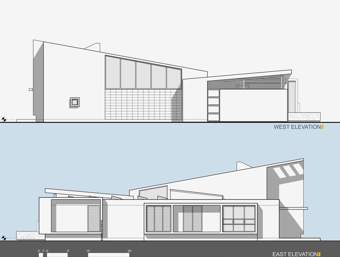 Superior Building Elevation Plan Part - 12: Architecture Design · 122748261_west-east-elevations