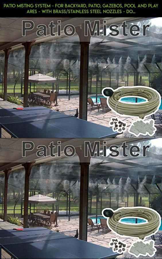Patio misting system for backyard patio gazebos pool and play patio misting system for backyard patio gazebos pool and play ares with brassstainless steel nozzles do it yourself misting system easy to solutioingenieria Image collections