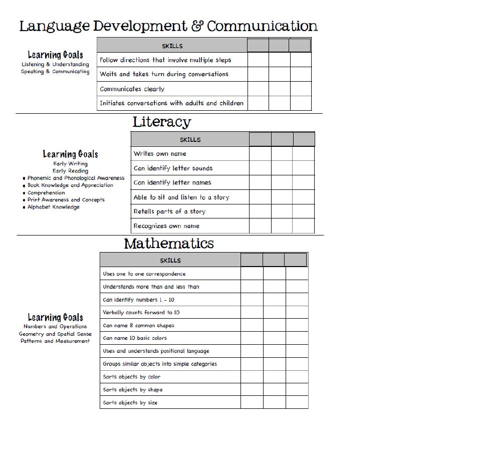 Page 2 Developmental Checklist